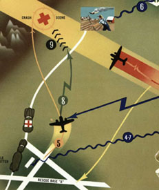 Illustration detail: SAR operations on land